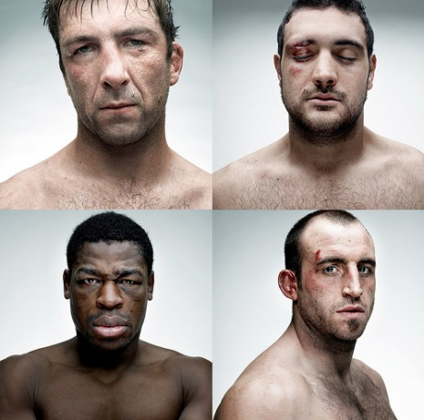 British rugby players by Denis Rouve