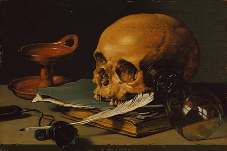 Pieter Claesz - Still Life with Skull and Writing Quill