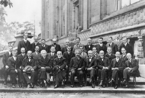 EDITORIAL USE ONLY. EDITORIAL USE ONLY. Fifth Solvay Conference. Scientists at the Fifth Solvay International Conference, Brussels, in 1927. Among those present were Einstein, Marie Curie, de Broglie, Dirac, Schroedinger and Pauli. These conferences were started by the Belgian physicist Ernest Solvay (1838-1922) in 1911. At them, some of the leading thinkers of the day in physics, chemistry and sociology discussed recent advances in their fields. Many of the ideas about quantum mechanics, the atom and cosmology were developed at them., Image: 102271986, License: Rights-managed, Restrictions: , Model Release: no, Credit line: Profimedia, Sciencephoto RM