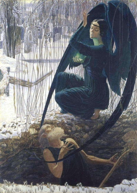 Carlos Schwabe - The Death of the Gravedigger