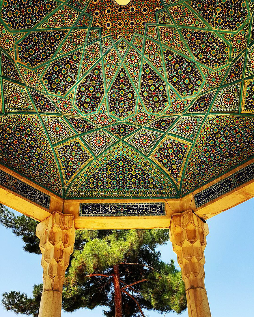 Hafez's tomb in Shiraz, Fars, Iran