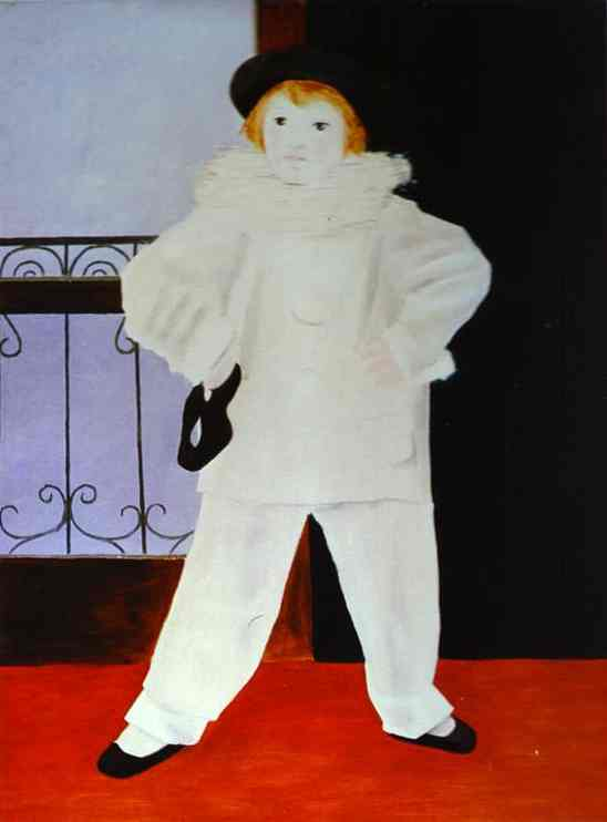 pablo-picasso-paulo-picasso-s-son-as-pierrot