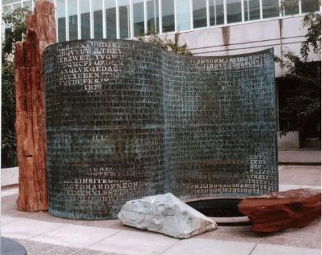 Skulptura sa imenom KRYPTOS u dvoristu sedišta CIA sadrzi skrivene poruke - čak ni najpromućurniji članovi agencije ne mogu da odgonetnu šifre