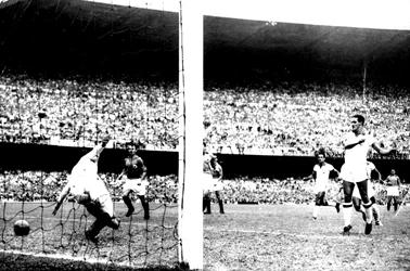Detalj sa meča Brazil-Jugoslavija - 1:0, Ademir 3'