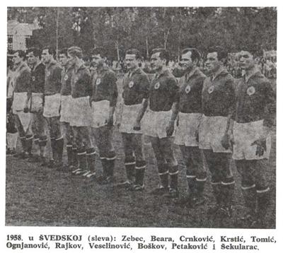 Reprezentacija Jugoslavije na Mundijalu 1958.