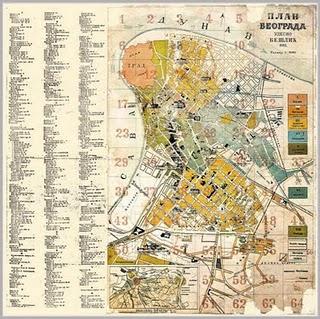 1893 plan Beograda Udesio Jovan Beslic