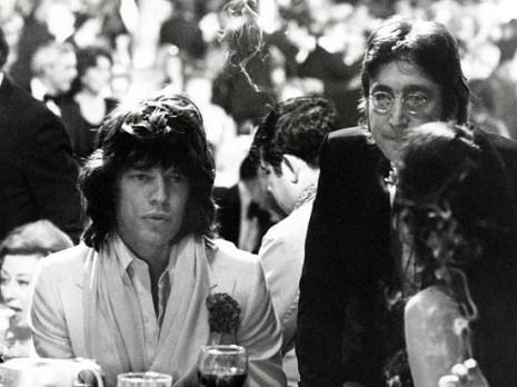 Mick Jagger, John Lennon and May Pang