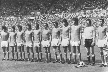 Ekipa Jugoslavije na otvaranju Mundijala 1974. protiv Brazila