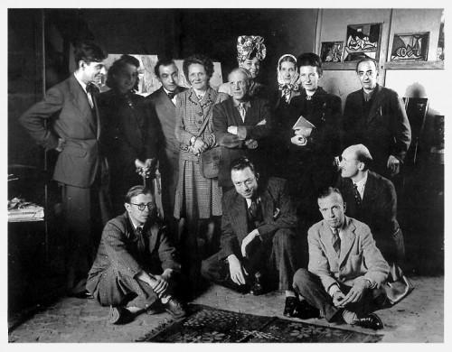 Jacques Lacan, Cécile Eluard, Pierre Reverdy, Louise Leiris, Zanie Aubier, Picasso, Valentine Hugo, Simone de Beauvoir, Sartre, Camus, Michel Leiris, Jean Aubier.