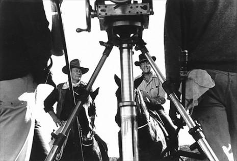 John Wayne and Dean Martin (filming The Sons of Katie Elder), 1965