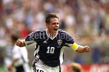 Stojković proslavlja gol protiv Nemačke