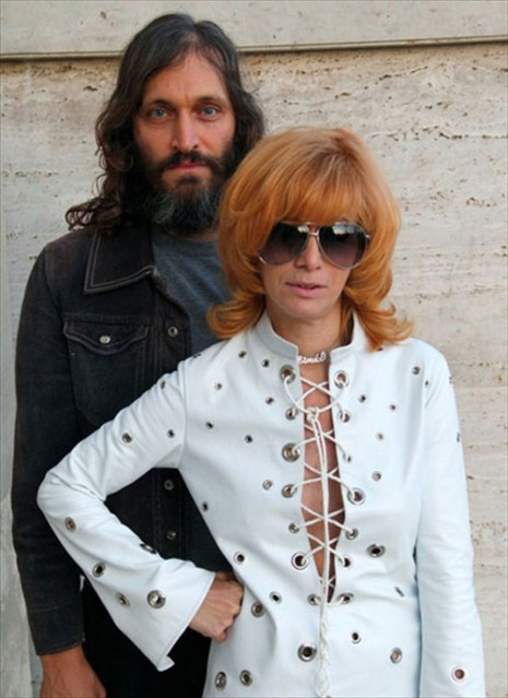 Vincent Gallo with Linda Ramone.