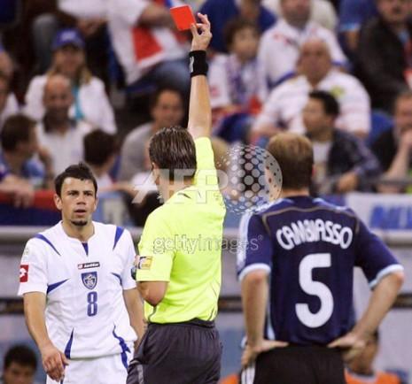 isključenje Kežmana na meču Argentina-SCG