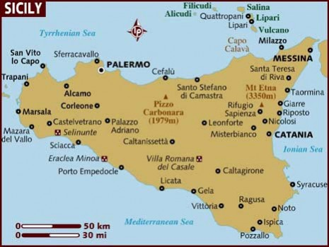 Image result for sicilija map