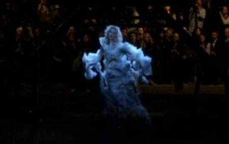 Kate Moss Hologram Video from Alexander McQueen