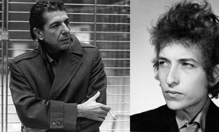 Leonard Koen i Bob Dilan: poezija i pop muzika