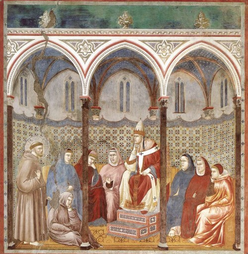 Giotto di Bondone / Djoto /  - Page 2 Legend-of-St-Francis-17.-St-Francis-Preaching-before-Honorius-III-500x512