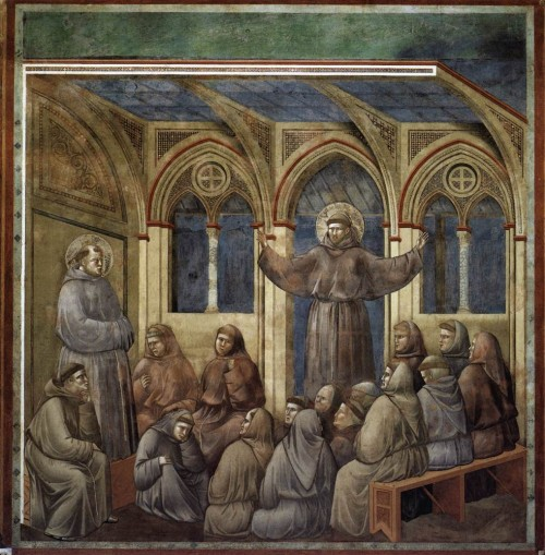 Giotto di Bondone / Djoto /  - Page 2 Legend-of-St-Francis-18.-Apparition-at-Arles-500x509