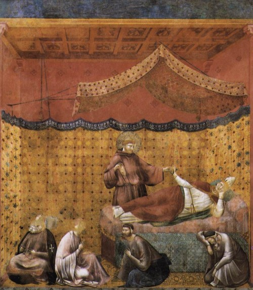 Giotto di Bondone / Djoto /  - Page 2 Legend-of-St-Francis-25.-Dream-of-St-Gregory-500x572