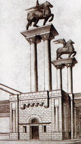 Мештровићев план коњаника за Мост краља Александра