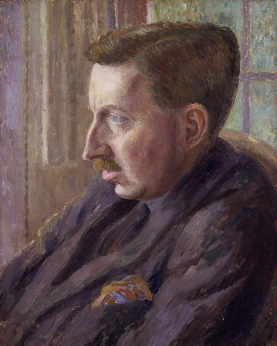 NPG 4698,Edward Morgan Forster,by Dora Carrington