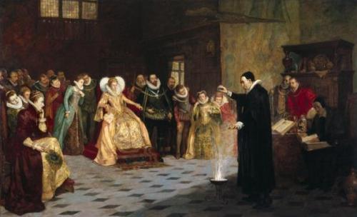 Di u uzvođenju eksperimenta pred kraljicom Elizabetom I, naslikao Henry Gillard Glindoni. Welcome Library, London