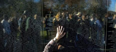 http://en.wikipedia.org/wiki/Vietnam_Veterans_Memorial#Memorial_Wall
