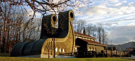 Изглед куће Југословенско-норвешког пријатељства у Горњем Милановцу
