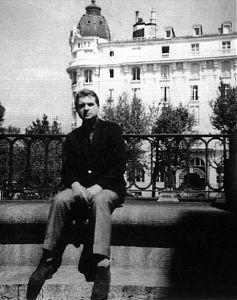 Bejkon ispred Ric hotela (Madrid), jedna od stanica na putu do Gibraltara, 1956