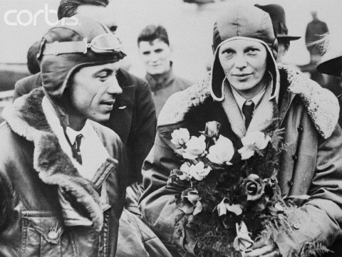 Vilmer Šulc i Amelija Erhart na fotografiji načinjenoj 26.06.1928. godine.