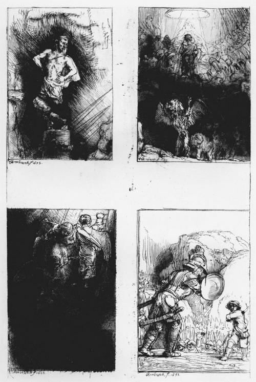 Četiri Rembrantove ilustracije iz knjige Piedra Glorioza