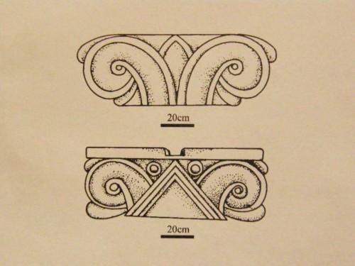 Protoeolski kapiteli (Crtež)