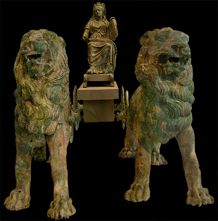 Statua boginje Kibele