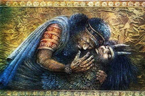 Gilgameš oplakuje Enkida