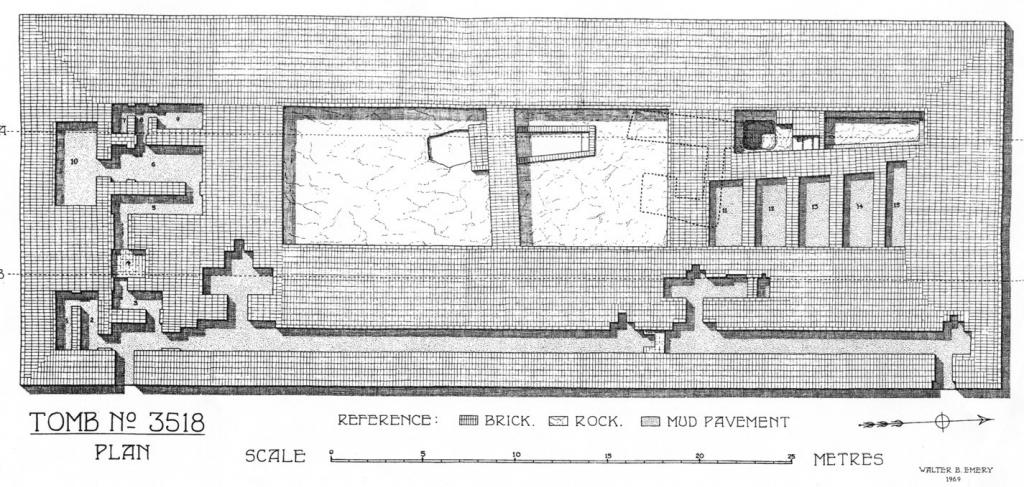 Mastaba: S 3518, za koju je W. B. Emery smatrao da predstavlja Imhotepov grob