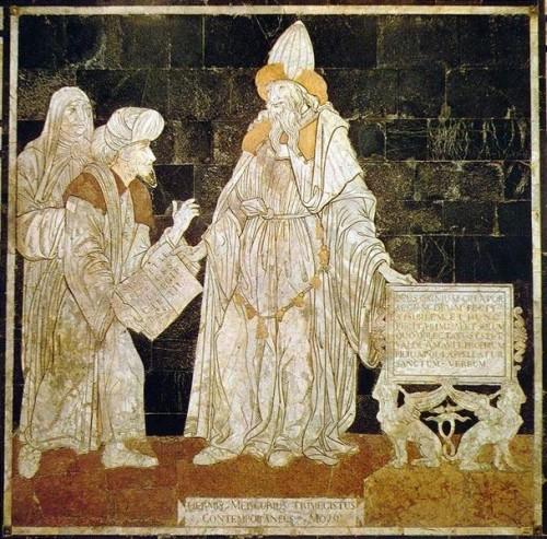 Hermes Mercurius Trismegistus. Podni mozaik iz katedrale u Sijeni