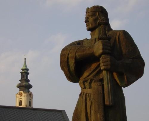 Pribinov spomenik u Njitri (Slovacka)