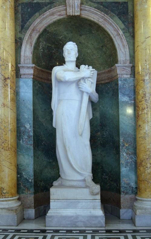 Statua kneza Kocelja u Domu Narodne skupstine u Beogradu