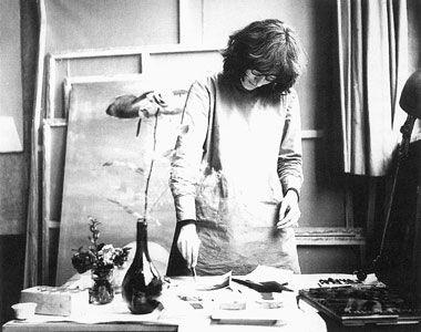 Abramovićeva u svom ateljeu, oko 1969. godine - Arhiv Abramović