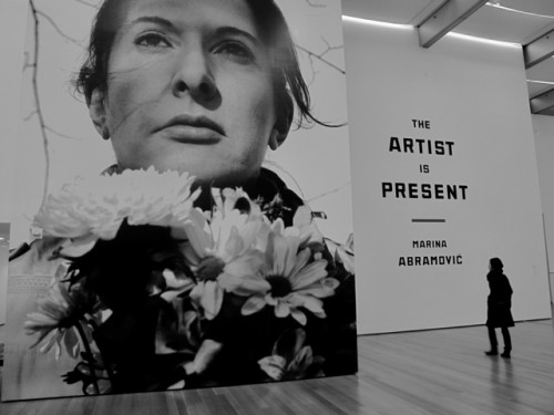 Marina-Abramovic-The-Artist-is-Present-2001-MoMA-installation-view-Portrait-with-Flowers-2009