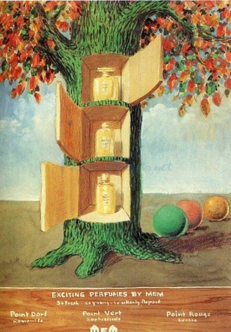 poster-exciting-perfumes-by-mem-1946-artist-Rene-Magritte