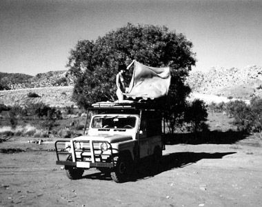 Marina u Velikoj Viktorijinoj pustinji u Australiji, 1980. ili 1981. Foto Ulay. Arhiv Abramović