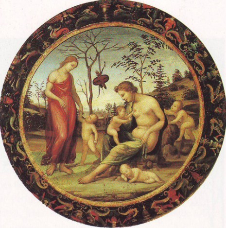 GIOVANNI ANTONIO BAZZI-XX-Sacred and profane love with anteros eros and two other cupids