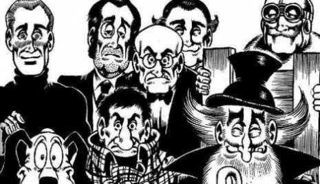 Grupa TNT, s leva: Alan Ford, Nosonja, sir Oliver, Bob Rok, Jeremija, debeli šef (njegovo puno ime je Gervasijus Tvinklminklson), Broj 1 i Grunf