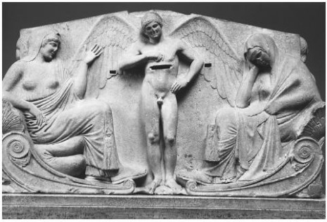 Tanatos između Afrodite i Persefone