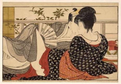"""Kitagava Utamaro: """"Ljubavnici u sobi na spratu"""""""
