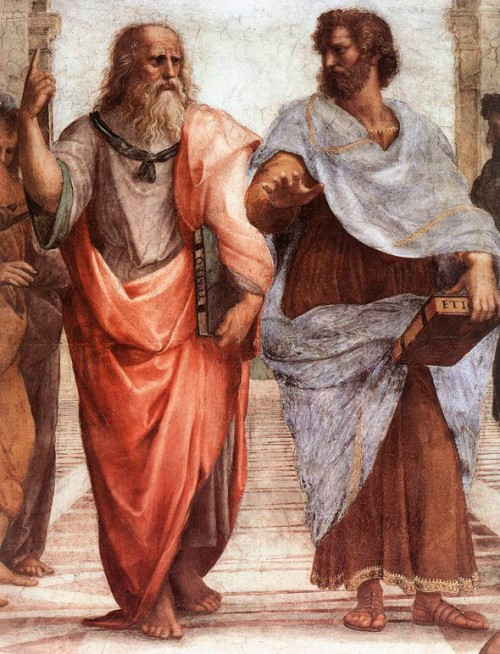 "Platon i Aristotel (detalj sa Rafaelove freske ""Atinska škola"")"