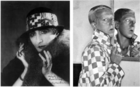 Levo: Dišanova Rose Selavey, Desno: Klod Kaun autoportret