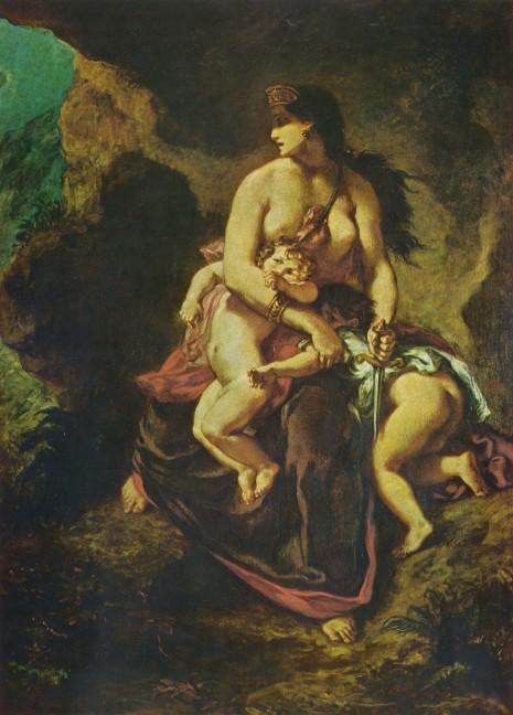 Eugène Ferdinand Victor - Delacroix Medea