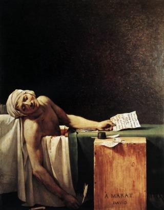 Жак-Луј Давид - Мараова смрт